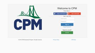 CPM Sign in