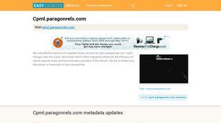 Cpml Paragon Rels (Cpml.paragonrels.com) - Paragon is ...