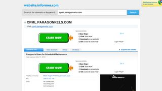 cpml.paragonrels.com at WI. Paragon Login - Website Informer