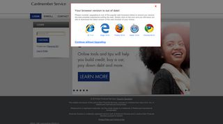 Credit Card Account Access: Log In