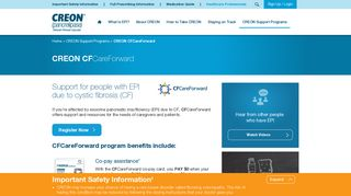 CREON® Cystic Fibrosis Co-Pay Support Program ...