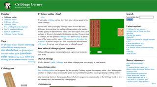 Cribbage online - free!   Cribbage Corner
