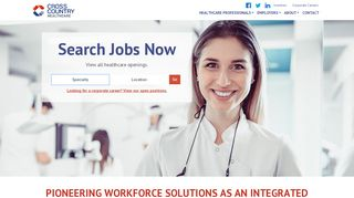 Cross Country Healthcare: Healthcare Staffing & Workforce ...