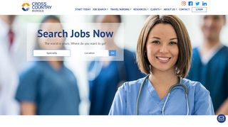 Cross Country Nurses   Leading Travel Nurse Agency