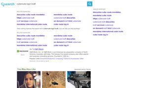cuberoute login kraft, Search.com
