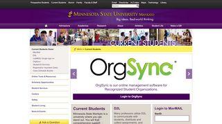 Current Students Home – Minnesota State University, Mankato
