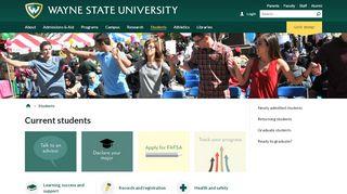 Current students - Wayne State University