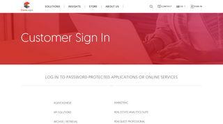 Customer Login Page - CoreLogic