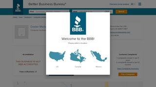Dealer Marketing Services Inc   Better Business Bureau® Profile