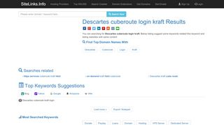 Descartes cuberoute login kraft Results For Websites Listing