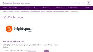 Desire2Learn – Course Website / LMS – Technology Tools – ATS ...