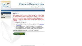 DeVry University | WELCOME