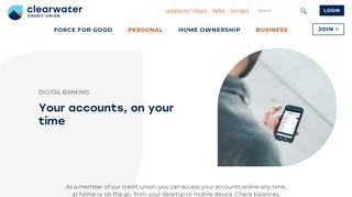 Digital Banking - Clearwater CU - Clearwater Credit Union