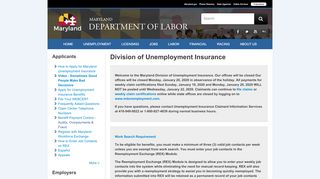 Division of Unemployment Insurance - Maryland Department of Labor ...