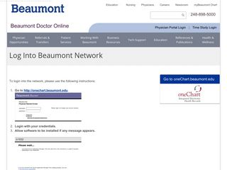 doctor/login - Beaumont Health System