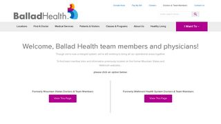 Doctors & Team Members  Ballad Health