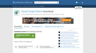 Download 3sixty Freight Match by TransCore