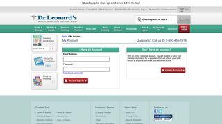DrLeonards.com   Account Login - Dr. Leonard's