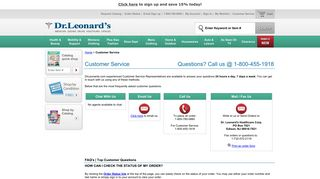 DrLeonards.com   Customer Service - Dr. Leonard's