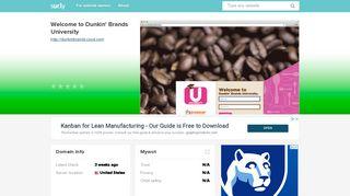 dunkinbrands.csod.com - Welcome to Dunkin' Brands Univ ...
