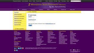 E-services – Minnesota State University, Mankato