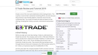 E-Trade review - Account, App and Fees info. Login and trade ...