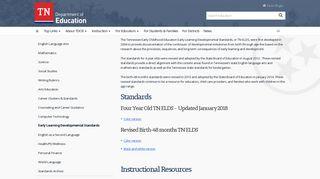 Early Learning Development Standards (TN-ELDS) - TN.gov
