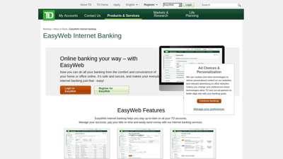 EasyWeb Internet Banking - TD Canada Trust
