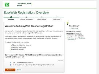 EasyWeb Registration