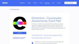 Edmentum - Courseware, Assessments, Exact Path - Clever ...