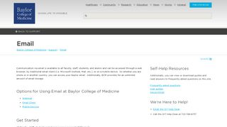 Email  Baylor College of Medicine  Houston, Texas
