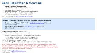 Email Registration & eLearning - Wayne State University ...
