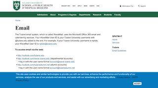 Email - Tulane School of Public Health - Tulane University