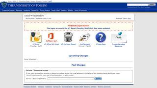Email web interface - The University of Toledo