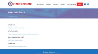 Employee Links – STAMFORD EMS