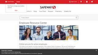 Employee Resource Center   Safeway