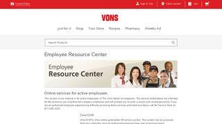 Employee Resource Center   Vons