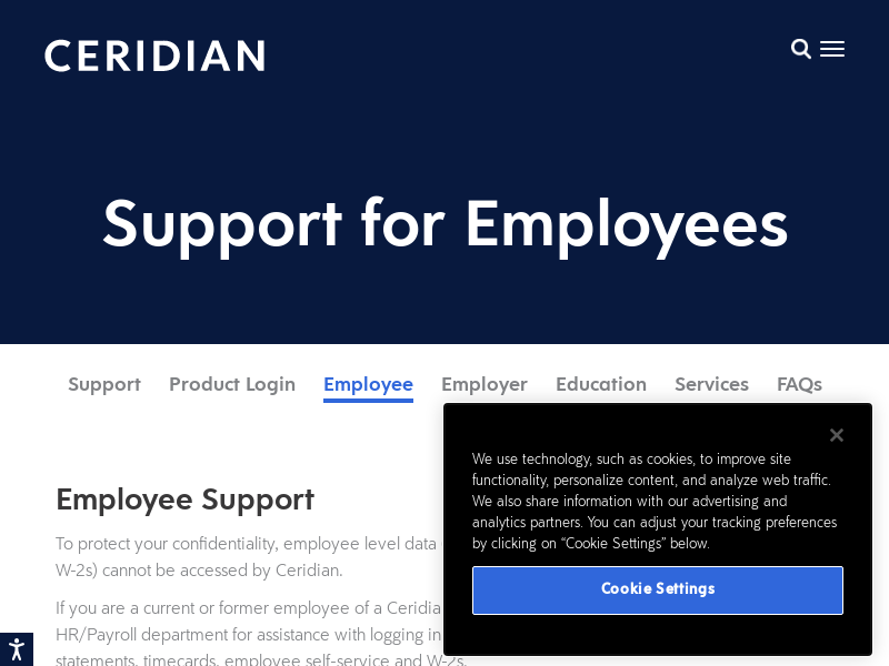 Employee Support Login  Paystubs  Password Reset