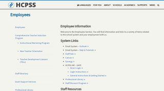 Employees – HCPSS