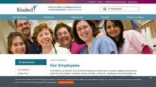 Employees   Kindred Healthcare