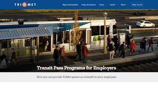 Employer Transit Pass Programs - TriMet
