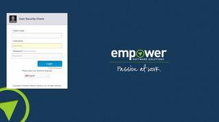Empower™ Employee Self-Service - Login