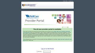 en.provider - Harmony Health Plan : Login