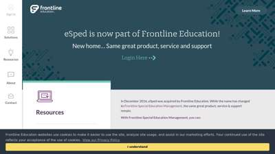 eSped: Now Part of Frontline Special Education Management