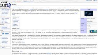 F-list - WikiFur, the furry encyclopedia
