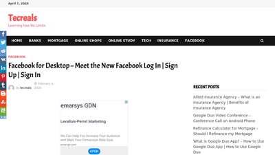 Facebook for Desktop - Meet the New Facebook Log In  Sign ...