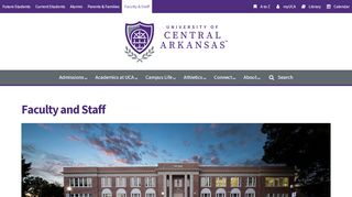 Faculty and Staff — University of Central Arkansas