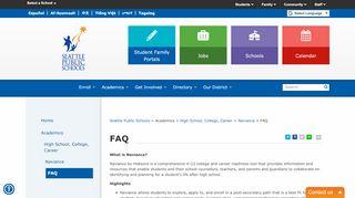 FAQ - Seattle Public Schools