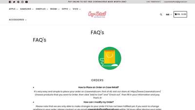 FAQ'S – Case Retail