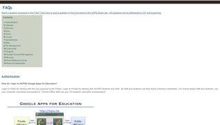 FAQs - Google Sites